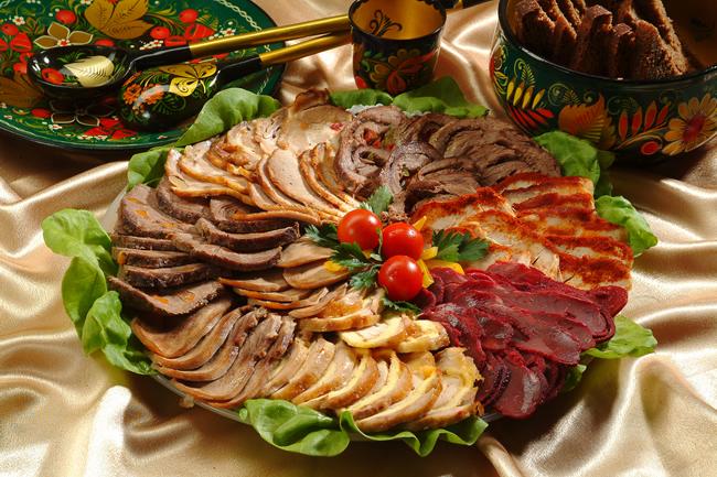 Холодные блюда и закуски из мяса и субпродуктов